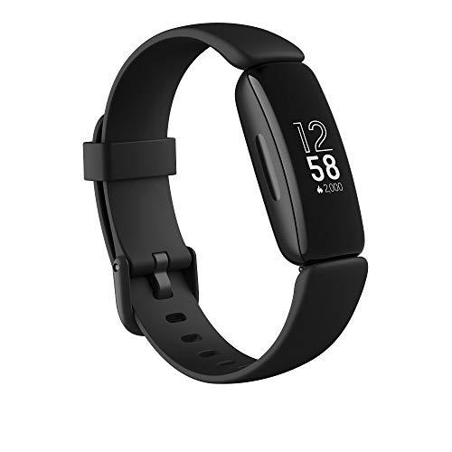 Fitbit Inspire 2 Gesundheits- & Fitness-Tracker mit einer 1-Jahres-Testversion Fitbit Premium, kontinuierlicher Herzfrequenzmessung & bis zu 10 Tagen Akkulaufzeit