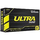 Wilson Ultra 500 Golf Ball (15-Pack), Yellow
