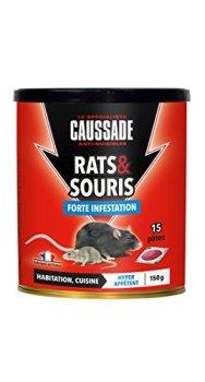 Caussade CARSPT150 Rats & Souris - 15 Pâtes Appât prêt à l'emploi -Habitation et Cuisine | Forte Infestation