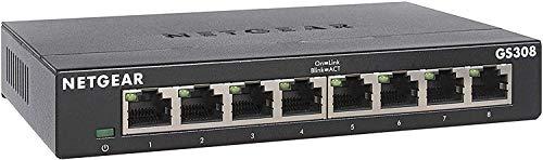 NETGEAR Switch Ethernet 8 Porte Unmanaged GS308,...