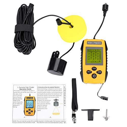 Demeras Ecoscandaglio Portatile con trasduttore sensore Sonar e Display LCD Accessorio da Pesca per la Pesca