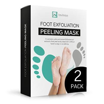 Foot Peel Mask 2 Pack, Peeling Away Calluses and Dead Skin Cells, Make Your Feet Baby Soft, Exfoliating Foot Mask, Repair Rough Heels, Get Silky Soft Feet by Lavinso