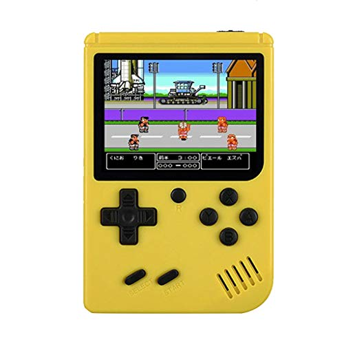 Handheld Game Console, Retro Mini Game Player丨Built-in 168 Classic Games丨Present for Kids and Adult (Yellow)