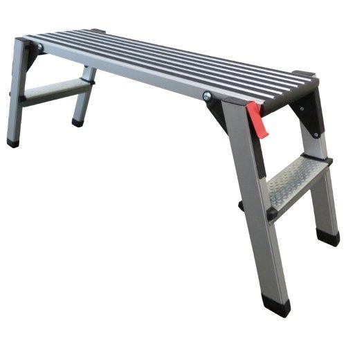 Arbeitsplattform Arbeitsbühne Gerüstleiter 70 cm oder 48 cm Arbeitshöhe Aluleiter Tritt Stufentritt (48 cm Arbeitshöhe)