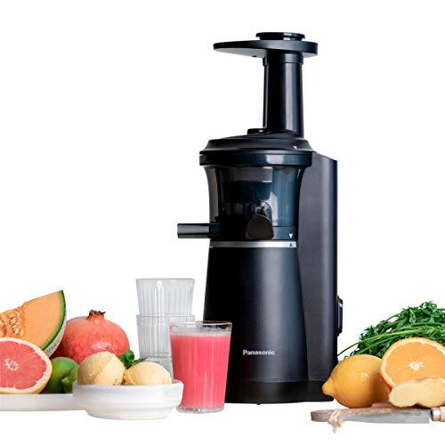 Panasonic MJ-L501KXE Slow Juicer, Estrattore di Succo Professionale, Accessori per Granite e Sorbetti, Estrazione Lenta Ideale per Mantenere Vitamine, Antiossidanti e Nutrienti, Silenzioso, Nero