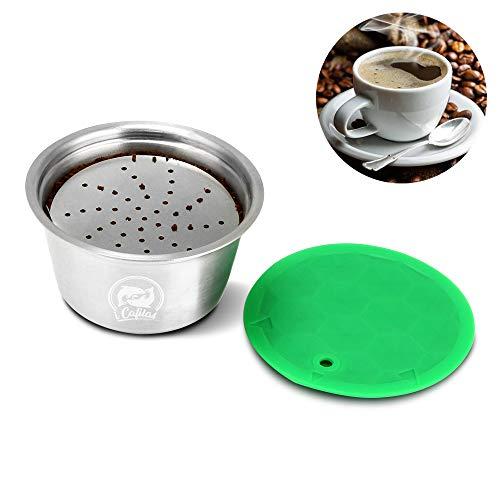 OurLeeme Capsula di caffè ricaricabile, tazza di filtro per caffè riutilizzabile in acciaio inox per Nespresso Dolce Gusto per caffè fragrante (Capsula di caffè)