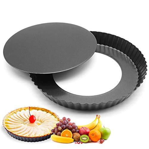 Quiche Tart Pan, Antiadherentes Loose Bottom Tart Pie, Round