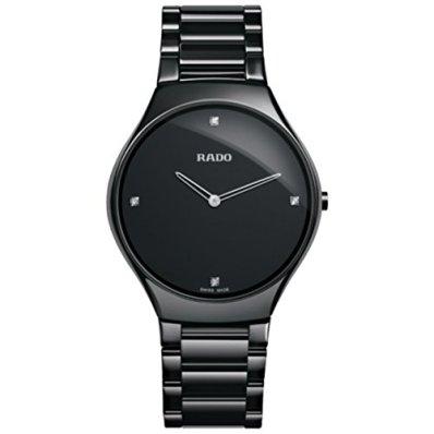Rado R27741712 Watch True Thinline Mens - Black Dial Stainless Steel Case Quartz Movement