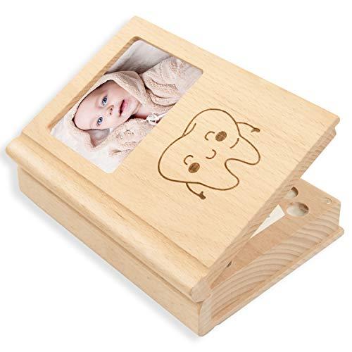 Milchzähne Box, Zahnbox Zahndose Milchzahndose, Zahndöschen für Kinder, milchzahn box, 100% handgefertigt mit Holz [Englisch Version]
