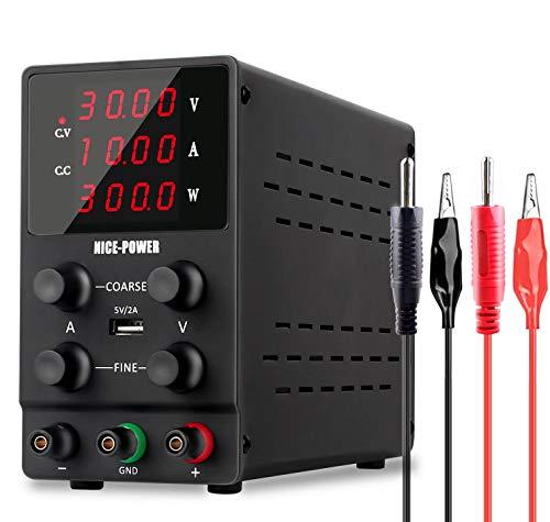 NICE-POWER Variable Bench Power Supply (0-30V,...