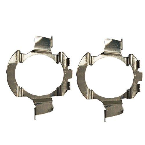 KOOTMOOM H7 Supporto per adattatore per base lampadine a LED in metallo 2Pcs Supporto per adattatore per faro H7 LED per serie ford kuga 1, Excelle GT / Excelle XT; Nissan Qashqai
