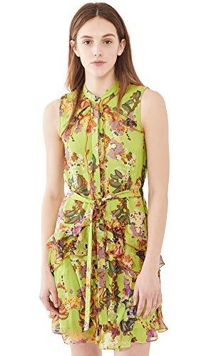 413dpDOnJkL Shell: 100% silk Lining: 100% polyester Fabric: Lightweight, non-stretch crinkled silk chiffon