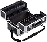 Meister 9095040 9095040-Maletín multiusos (355 x 240 x 225 mm, compartimentos separables, se pueden cerrar, incluye 2 llaves y correa, cosméticos, maletín de tijeras)