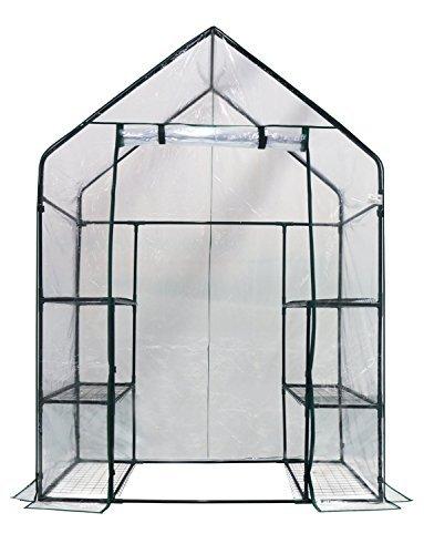 Homewell Walk-in Greenhouse 3 Tiers 6 Shelves, 56' W x 29' D x 77' H