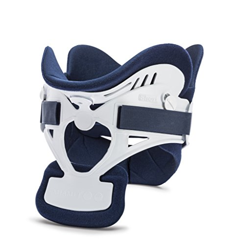 Ossur Miami J Cervical Neck Collar - C-Spine Vertebrae Immobilizer Semi-Rigid Antibacterial Pads for Patient Comfort - Relieves Pain & Pressure in Spine - MJ-300 Short