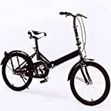 20 Inch Folding Bike for Adult Men and Women Teens, 7 Speed or 1 Speed Lightweight Mini Folding Bike Free Locker and Bag USD 52 Value Gray Color