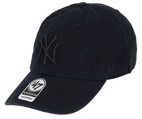 '47 New York Yankees Gorra, (Black & White), (Talla del