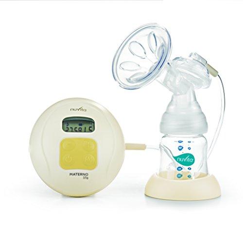 Nuvita 1286 Materno Life Sacaleches - Extractor de Leche Eléctrico con Tecnología 2 + 1 Fases - Auto Masaje - 5 Niveles de Intensidad de Extracción - 0% Reflujo Garantizado - 0% BPA - Diseño Italiano