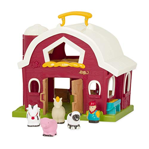 Battat – Big Red Barn – Animal Farm Playset for Toddlers 18m+ (6 Pieces) (Renewed)
