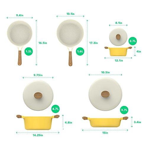 Product Image 2: Vremi 8 Piece Ceramic Nonstick <a href=