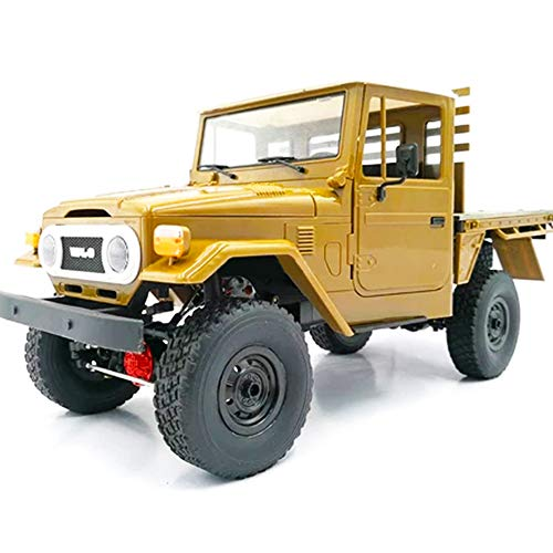 MeterMall Hobby for WPL C44KM 1/16 Metal Edition Kit 4Wd Climbing Off-Road Truck DIY Accessories Modified Upgrade Without ESC Battery Transmitter Receiver Yellow