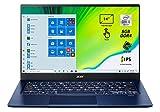 Acer Swift 5 SF514-54T-7500 Notebook portatile, Intel Core i7-1065G7, Ram 8GB, 512GB PCIe NVMe SSD, Display Multi-touch 14' FHD IPS LED LCD, Grafica Intel IrisPlus, Pc portatile, Windows 10 Home, Blu