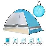 Winkeyes PopUp BeachTent Sun,ShelterTent Lightweight Sun TentCabana Tent FishingTent Anti UV Instant Portable Tent Sun Shelter Windproof Collapsible Pop Up Baby CabinTent for 2-3 Person
