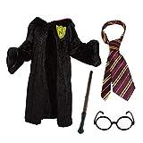 Fancy Dress Costume Sorcier pour Enfants: Cape sorcière + Baguette Magique...