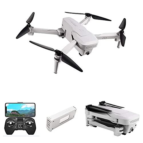 Droni con fotocamera, Mini Drone GPS con 5G Wifi FPV 4K HD Doppia fotocamera Flusso ottico RC Quadricottero Fotografia aerea Drone pieghevole per principianti (1 Batteria)