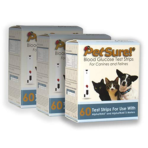 Petsure! Blood Glucose Strips 60ct for Dogs and Cats Use with AlphaTRAK and AlphaTRAK2 Meters - 3 Pack