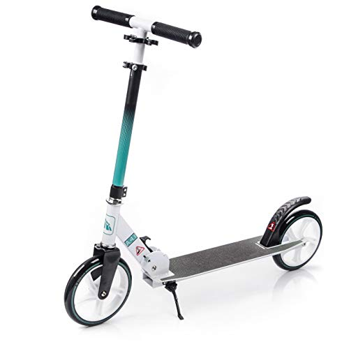 meteor® URBAN Scooter :Big Wheel 200 Kickscooter Tret-Roller, Stunt Scooter klappbar, Erwachsene & Kinderroller, Sehr langlebig -bis zu 90Kg (A-4)