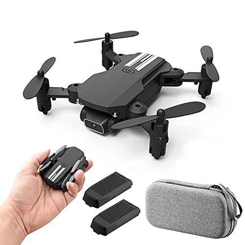 FMHCTN Drone 480P/1080P/4K con Fotocamera per Adulti, Video in Diretta HD FPV, quadricottero RC Pieghevole con Custodia nera-4K (Nero 1080 P)
