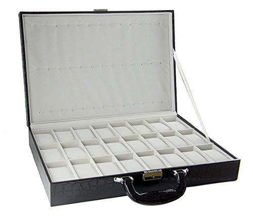 Feibrand PU Uhrenbox für 36 Uhren Koffer