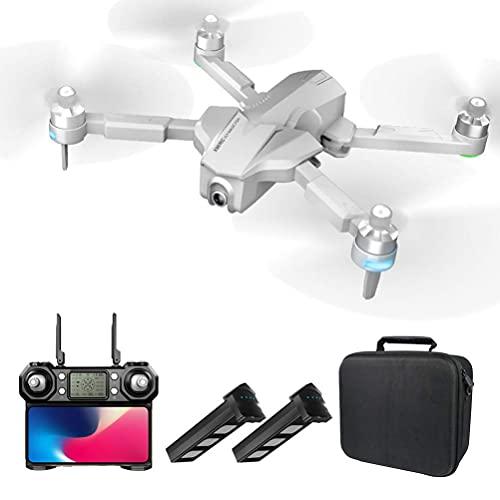 Drone Pieghevole con Fotocamera 4K HD FPV, Drone GPS per Adulti, Motore brushless per droni quadricotteri, Distanza di Telecomando 1000M, 2 batterie, 110 ;Fotocamera grandangolare