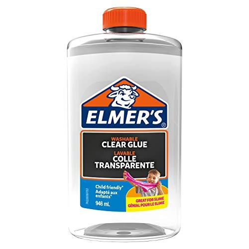 Elmer's - Pegamento transparente, lavable y apto para niños de 946ml, óptimo para hacer slime