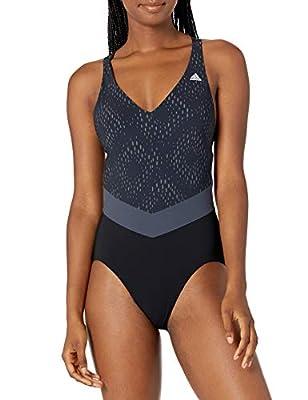 A sleek swimsuit for fitness training Comfortable fit Inner padded bra