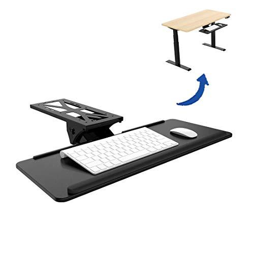 Flexispot KT1B Tastaturablage Tastaturschublade für Keyboard Neigbar, Metall, schwarz