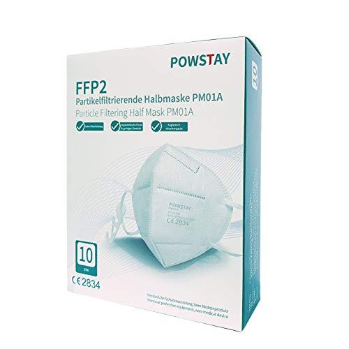 EasyCHEE Powstay PM01A Maschera di protezione antiparticolato FFP2 NR, 10 pezzi