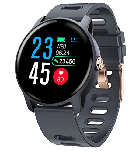 GJNVBDZSF Smart Watch, Fitness Tracker Touch Screen Smartwatch Ip67 Orologio Impermeabile con...