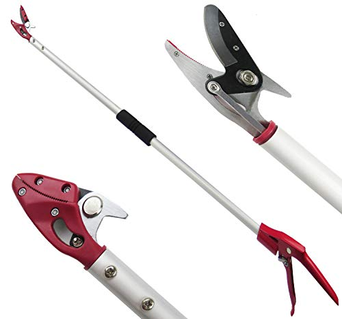 Mesoga 4 Feet Cut and Hold Tree Pruner, Rotation Pole Tree Trimming, Long Reach Fruit Picker, Branches Bypass Lopper