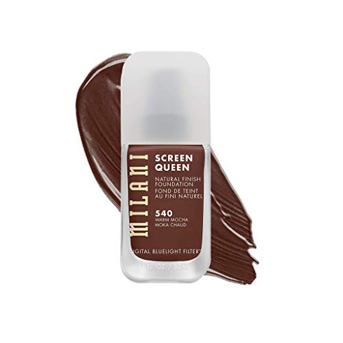 Product Image 1: Milani Screen Queen Liquid Foundation Makeup - Cruelty Free Foundation With Digital Bluelight Filter Technology (Warm Mocha)