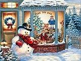 NO BRAND Punto de Cruz Diamante Diamante Bordado Santa árbol de Navidad DIY Diamante Pintura Punto de Cruz Cuadro Rhinestone Cuadrado Completo Diamante Marco 30x40cm WYLUWLI