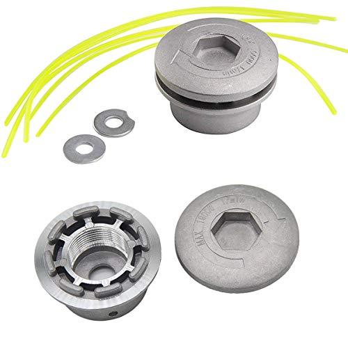 Osuter 2PCS Alluminio Testina Decespugliatore Testine Tagliabordi Tagliaerba Universale per Tagliaerba Decespugliatore a Benzina