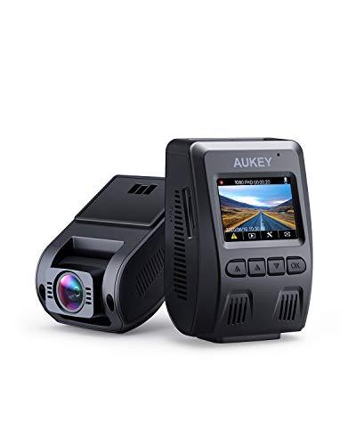 """AUKEY Dashcam 1080p Kompakte Autokamera, 170° Weitwinkel, Wdr Nachtsicht Bewegungssensor, Loop Aufnahme, 1, 5\"""" LCD Stealthcam inkl. 2 Ports Autoladegerät DR02"""