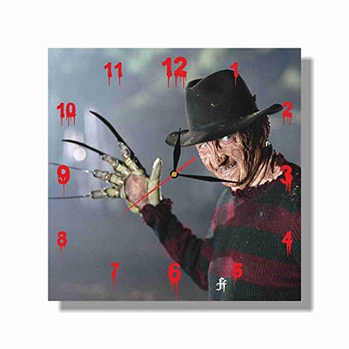 "HANDMADE ART WALL CLOCK Freddy Krueger - 11.8"" Unique Design - BE Special - The Best Gift"