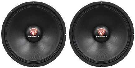 "(2) New Rockville RVP15W8 2000 Watt 15"" Pro Subwoofers 8 Ohm Raw Sub Woofers"