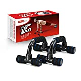 RUBEX Push Up Bars Strength Training, with Foam Grip and Non-Slip Handles Structure - for Perfect Floor Home Exercise, Gym and Press Fitness – Weight Power Workout Equipment for Men, Women, Kids