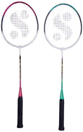 Silver's Sb-414 Gutted Badminton Rackets(Multicolor) & Marvel Feather Shuttlecock, Pack of 3 (White) Combo