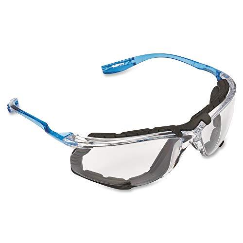 3M  11872-00000-20 Safety Glasses, Virtua CCS Protective Eyewear 11872, Removable Foam Gasket, Clear Anti-Fog Lenses, Corded Ear Plug Control System