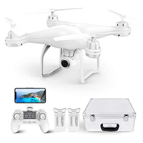 Potensic Drone GPS Professionale T25 FPV con Telecamera 120  Grandangolo Regolabile HD 1080P Dual GPS Fotocamera Seguimi RTH con Telecomando, Due Batterie, Valigetta